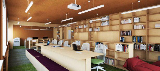 library and recreation room. Skrīveri